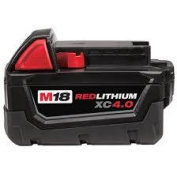MILWAUKEE ELEC TOOL CORP M18 RED LITHION 4.0amp BATTERY