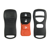 Keyless2Go New Replacement Shell Case and 3 Button Pad for Remote Key Fob with FCC KBRASTU15 - SHELL ONLY