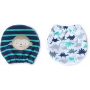 Child of Mine by Carter's Newborn Baby Boys 2 Pack Monkey Mittens, NB