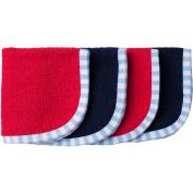 Gerber Newborn Baby Boy Assorted Woven Premium Solid Washcloths, 4-Pack