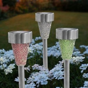 Two Tone Crackle Mosaic Solar Post Light