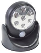Black 360° Rotating 7 Led Pir Motion Sensor Security Wall Cupboard Light