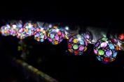 Solar Multi Glow Gem String Lights10 Globes Garden, Lighting, Decoration, Patio
