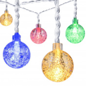 30 Led 8 Modes Battery Powered String Light, Oakleaf Multi Colour Crystal Ball
