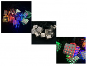 10/ 20 Led Magic Cube Multi Coloured String Party Lights Bright Solar Garden
