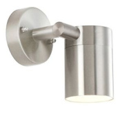 New Globo Gu10 Style Ip44 Outdoor Wall Light Silver