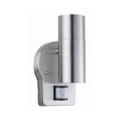 Nartel Outdoor Wall Up Down Double Spot Light Pir Motion Sensor S/steel Security