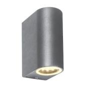 Saxby Doron 3.5w Twin Grey Die Cast Aluminium Indoor Outdoor Ip44 Up Down Led