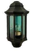 Nartel - Black Flush Wall Lantern - 5682