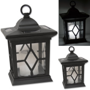 Woodside 2 X Solar Powered Flickering Hanging Candle Lanterns/lamp/