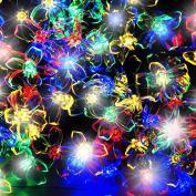 100 Multi-colour Led Blossom Solar Fairy Lights / Solar String Lights By Spv