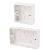 1g-2g 16mm 25mm 47mm Surface Back Box Wall Pattress Socket Switches Round Edge