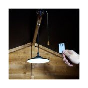 Led Shed Light - Solar Powered - Bright White - Remote Control - Pull Cord By