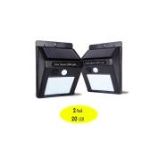 Outdoor Led Motion Sensor Solar Security Light With 20 Bright Nodes,solar