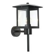 Modern Black Ip44 Outdoor Wall Lantern Light Garden Porch Lighting