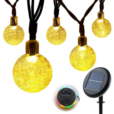 Solar String Lights Garden, Lunalife Outdoor Waterproof Globe Fairy Lights