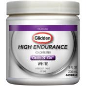 Glidden High Endurance Grab-N-Go, Interior Paint and Primer, Eggshell Finish, White,Tester, 240ml