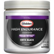Glidden High Endurance Grab-N-Go, Interior Paint and Primer, Eggshell Finish, Onyx Black, Tester, 240ml