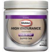 Glidden High Endurance Grab-N-Go, Interior Paint and Primer, Eggshell Finish, Dapper Tan, Tester, 240ml