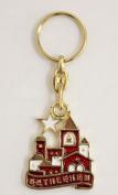 Bethlehem panorama key chain with the Bethlehem Star Christian key rings