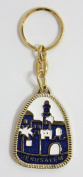 Jerusalem scene keychain with the religious christian and inspirational key rings