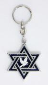 Star of David the Dove of Peace key chains Christian & Judaic key rings