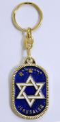 Star of David with enamel colors key chains Christian & Judaic key rings