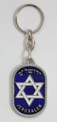 Star of David with enamel colors key chains Christian Judaic key rings