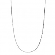 PORI Jewellers Italian Sterling Silver Diamond-Cut Snake Necklace, 41cm