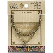 Thaneeya(R) LLC Metal Ball Chain Necklace 1/Pkg-Oval/Round