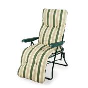 Outdoor Garden Furniture Tubular Padded Relaxer Reclining Chair Lounger Sale