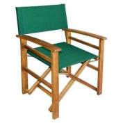 Outdoor Garden Furniture Fsc Acacia Directors Chair Green Folding Patio Camping