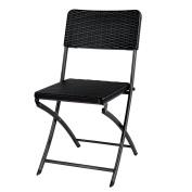 Ikayaa 2pcs Outdoor Chair Patio Chair Folding Chair Dining Garden Party Beach