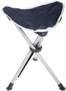Halfords Outdoor Camping Camp Travel Beach Picnic Fishing Steel Stool Navy