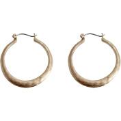 Gold-Tone Snap Hoop Earrings