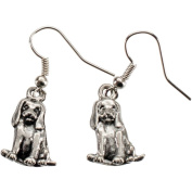 Charming Accents Wire Earrings, Beagle