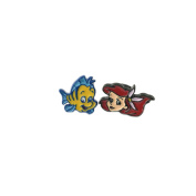 Disney Movie The Little Mermaid Ariel & Flounder Post Earrings