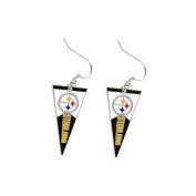 Pittsburgh Steelers NFL Pennant Sports Team Logo Dangle Earring w/Gift Box