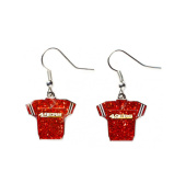NFL San Francisco 49ers Sports Team Logo Glitter Jersey Sparkle Dangle Earring Set