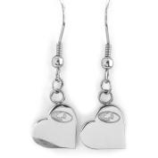 Mossy Oak Silver Heart Earrings