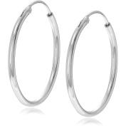 Brinley Co. Women's Sterling Silver 20mm Hoop Earrings