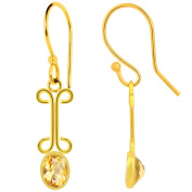 Orchid Jewellery Mfg Inc Orchid Jewellery Yellow Gold Plated 1 3/5ct. Oval-cut Citrine Earrings