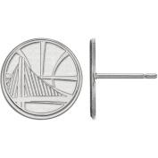 LogoArt NBA Golden State Warriors Sterling Silver Stud Earrings