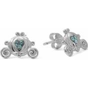 Disney Sterling Silver Princess Carriage Crystal Stud Earrings
