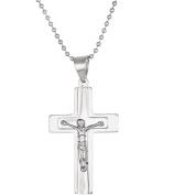1913 Steel Stainless Steel Cross Jesus Pendant