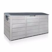 BARTON Pool Deck Box Patio Garden Shed Bin All Weather UV-Resistant