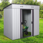 1.2m x 1.8m Outdoor Storage Shed Steel Garden Utility Tool Backyard Building Garage