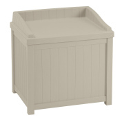 Suncast 83.3l Outdoor Storage Resin Patio Deck Box with Seat, Tan | SS1000A