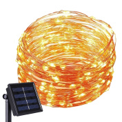 Kohree Solar Powered String Lights 120 LED 6.1m Copper Wire Starry String Light Indoor Outdoor Waterproof Decoration