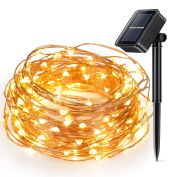 Solar Powered String Light, Kohree 100 Micro LEDs Light String With 10m Long Ultra Thin String Copper Wire